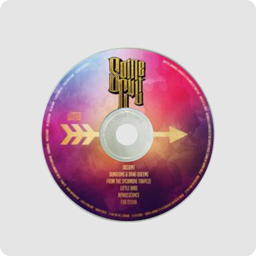 CD Duplication Product Example - Multicolored CD Face