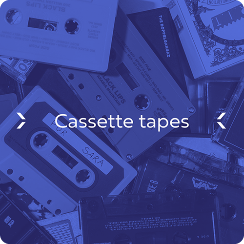 Custom Audio Cassette Manufacturing, assortment of cassette tape shells