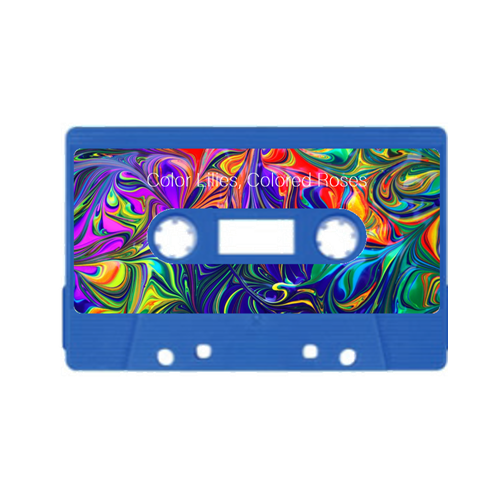 Custom cassette tape example with custom printed floral label