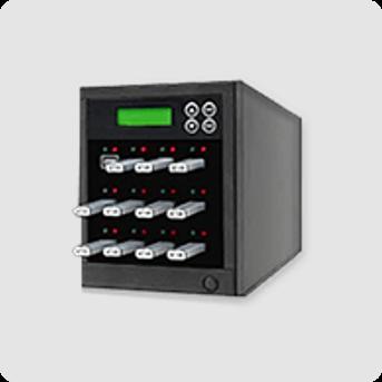 USB data loading action image - USB flash drives inside a replication machine